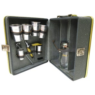 Mid-Century Modern Travel Bar Set For Sale
