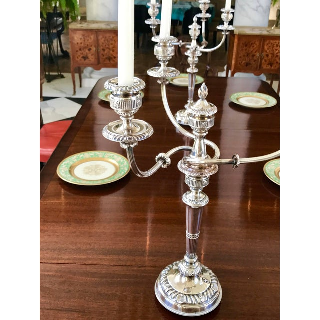 Traditional Pair of Silver Candelabra George III Period For Sale - Image 3 of 8
