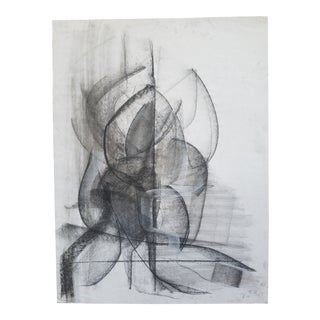 Abstract #10 Charcoal Drawing by Terry Frid For Sale