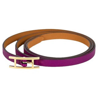Hermès Anemone Purple Wrap Bracelet For Sale