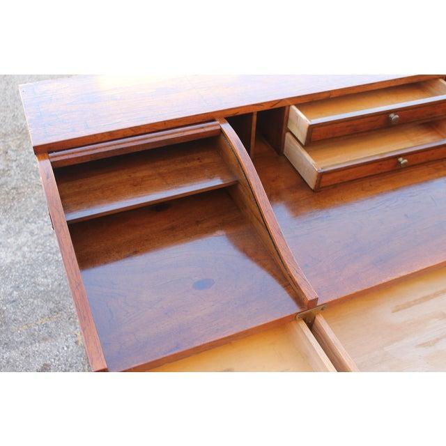 Brown Vintage Campaign Rolltop Desk For Sale - Image 8 of 13
