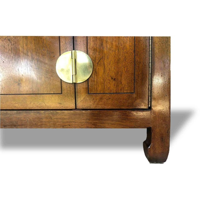 1970s 1970s Henredon Asian Chinoiserie Campaign Credenza For Sale - Image 5 of 12