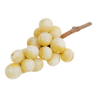 Vintage Pale Yellow Stone Grape Cluster