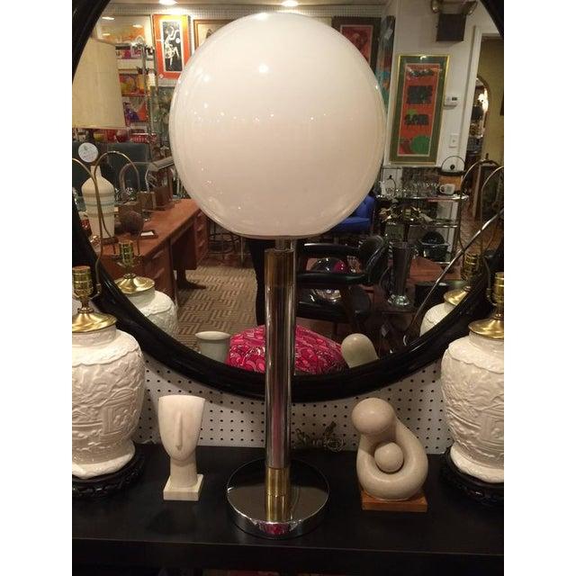 Large Robert Sonneman Style Lollipop Table Lamp For Sale - Image 10 of 12