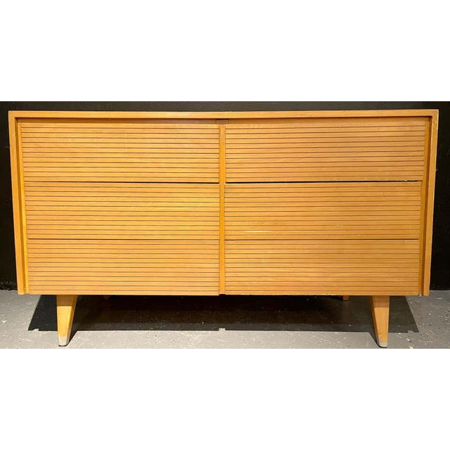 1960s Six-Drawer Mid-Century Modern Commodes, Chests or Dresser - a Pair For Sale - Image 5 of 13
