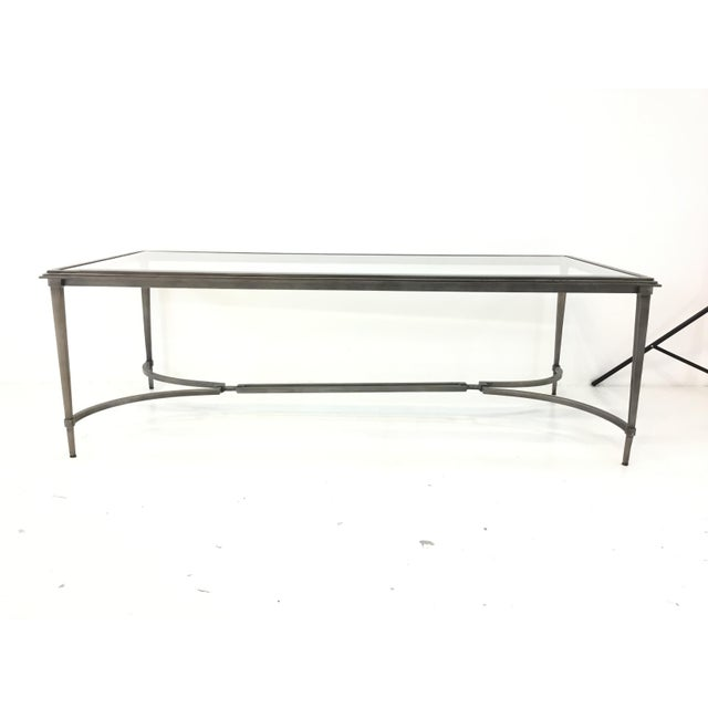 Organic Modern Sherrill Co. Metal and Glass Cocktail Table For Sale In Atlanta - Image 6 of 6