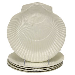 Vintage Wedgwood Scallop Shell Salad Plates, S/5