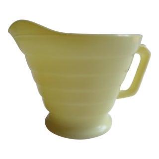 Mid-Century Lemon Yellow Glass Cream Pitcher