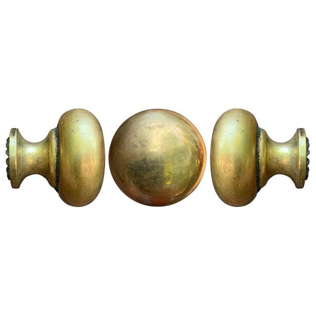 A set of thirty five vintage cast bronze drawer or door knobs perfect for your next kitchen or bathroom project.
