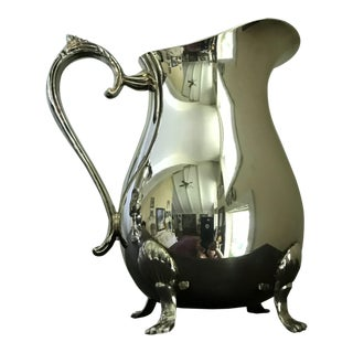 Leonard Silverplate Footed Pitcher With Ice Guard