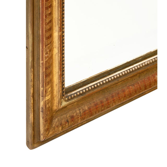Louis Philippe Period Gold Leaf Mirror For Sale - Image 9 of 10
