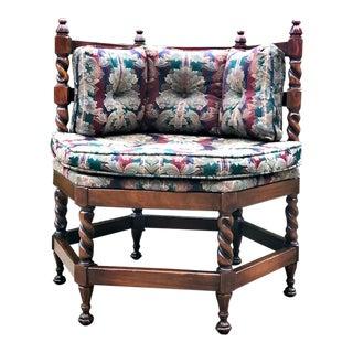Vintage Barley Twist Corner Chair For Sale