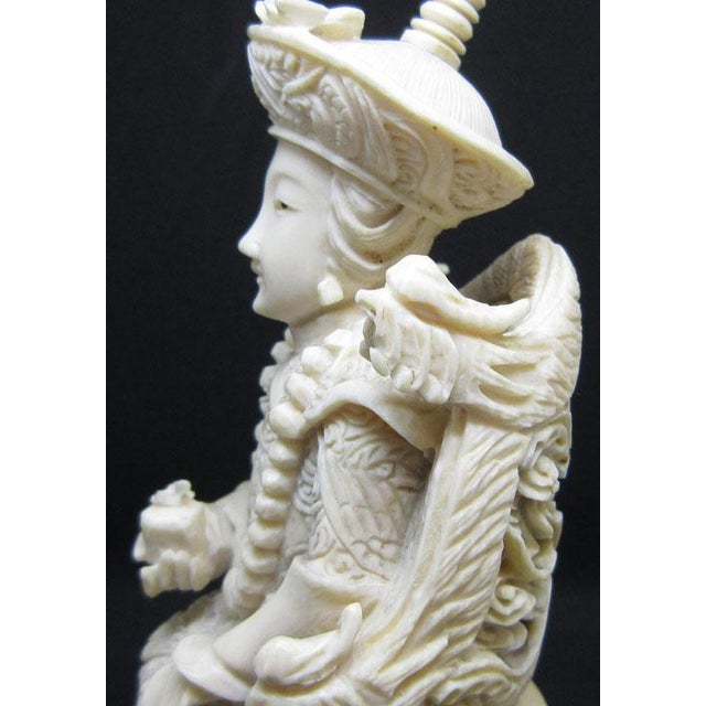 1940s Vintage Chinese Woman Handcrafted Ivory Sculpture Chairish
