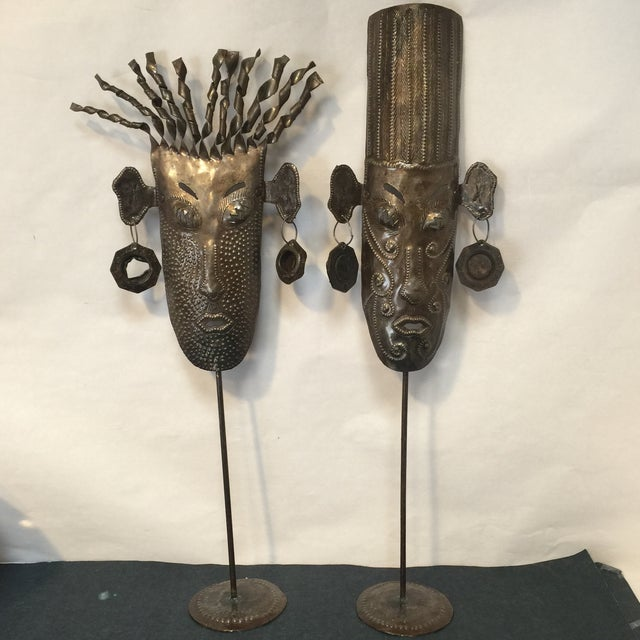 Oil Drum Masks - a Pair - Image 2 of 11