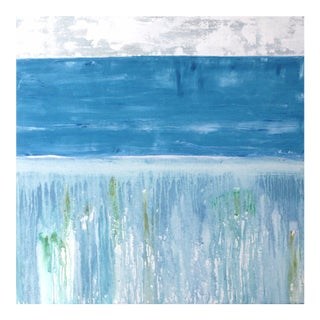 "Paul Ashby ""Awash"" Abstract Watery Landscape Painting"