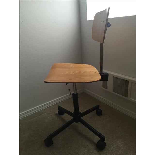Contemporary Vintage Swivel Office Chair Made by Rabami Stole For Sale - Image 3 of 8
