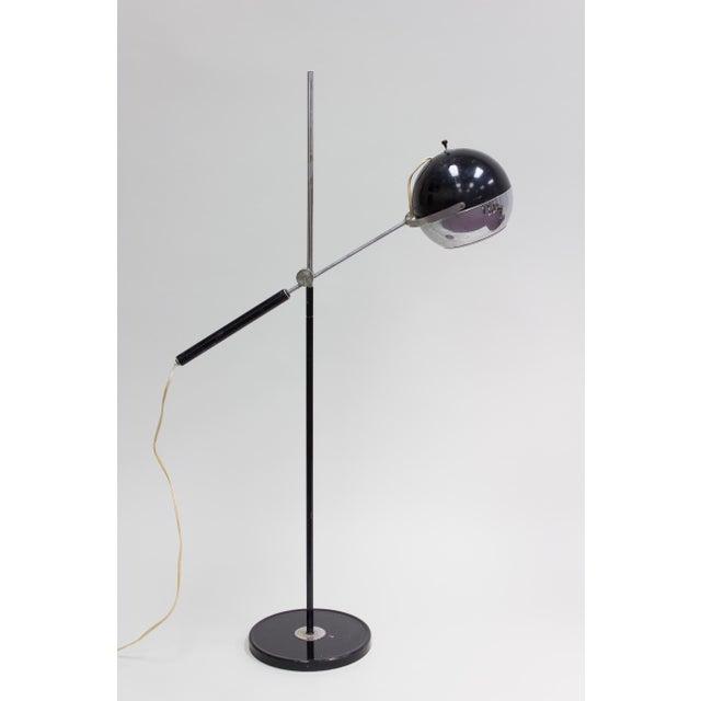 Articulating Chrome Eyeball Floor Lamp | Chairish