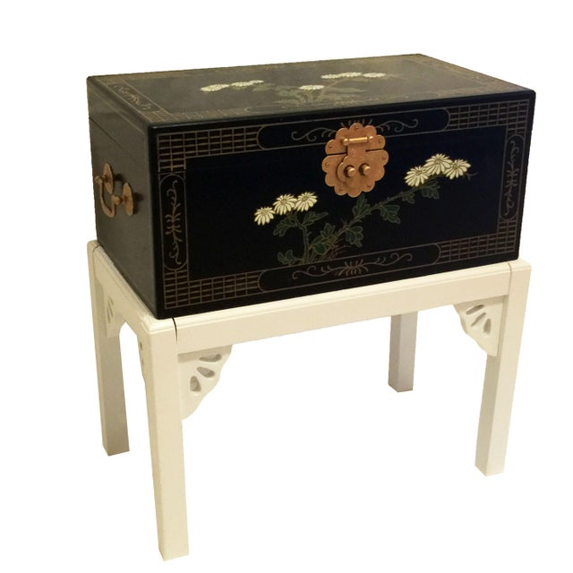 1970s Chinoiserie Lacquered Chest For Sale - Image 11 of 11