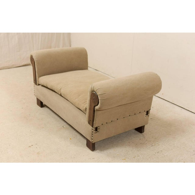French Lit De Jour 'Daybed' Circa 1920s-1930s With Nice Rounded Arms For Sale - Image 9 of 11
