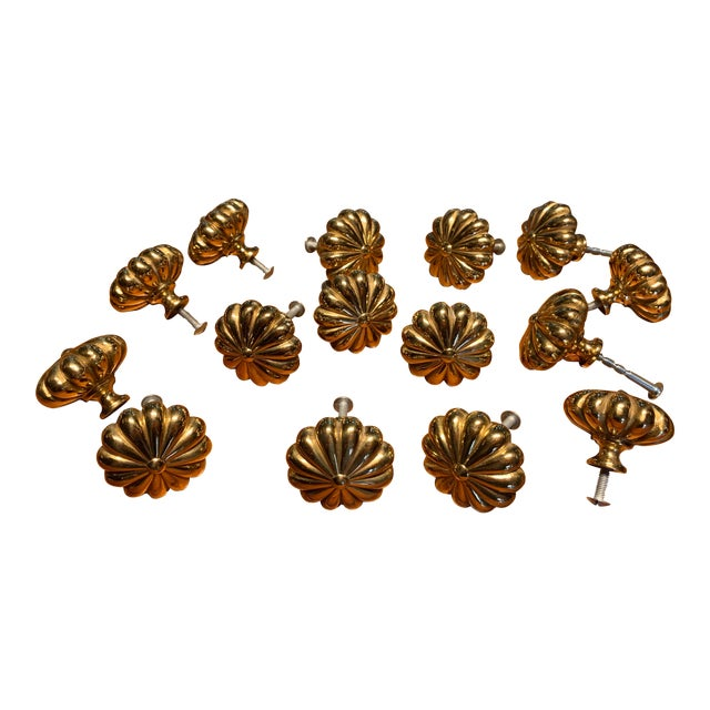 Sherle Wagner Brass Cabinet Hardware For Sale