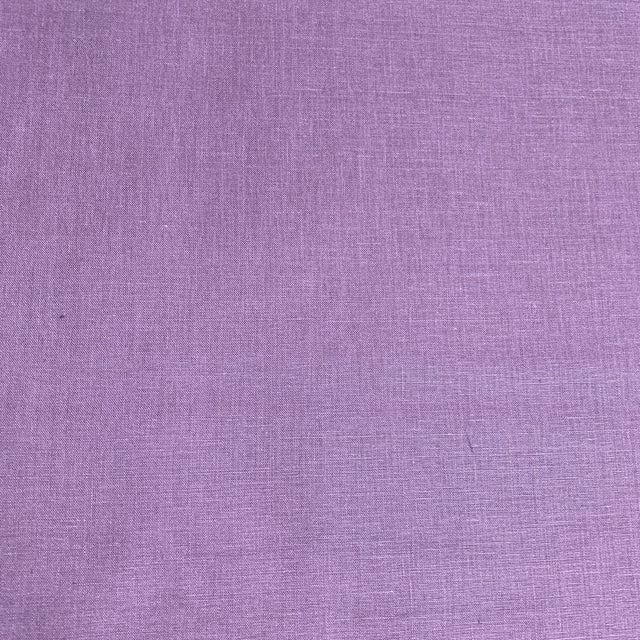 Contemporary Designer 100% Linen Aubergine Purple Fabric For Sale - Image 3 of 6