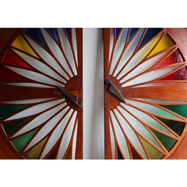 Monumental Stained Glass Sliding Doors Circa 1970 - a Pair For Sale In Los Angeles - Image 6 of 13