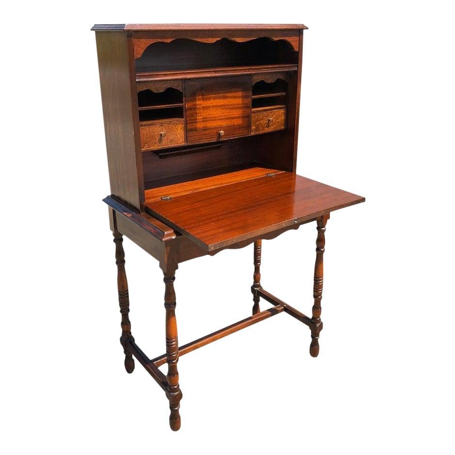 Antique Early American Maple Drop Front Secretary Desk Chairish