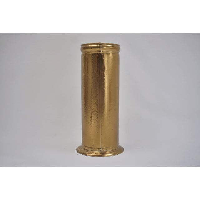 1930s Vintage Brass Umbrella Stand by Peerage For Sale - Image 5 of 12