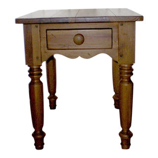 Americana Ethan Allen Pine Side Table