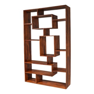 Postmodern Walnut Shelves, Italy For Sale