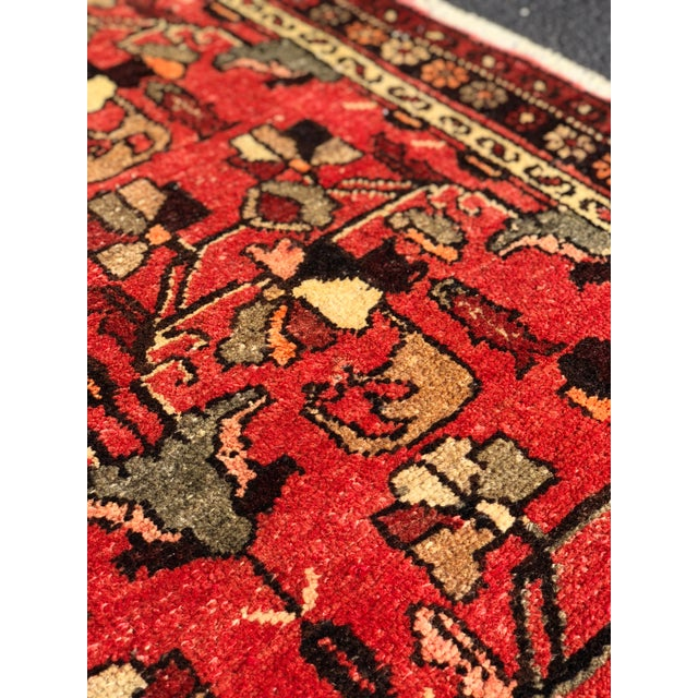 """1960's Vintage Persian Hamadan Thick & Heavy Runner 3'3""""x9'4"""" For Sale - Image 11 of 13"""