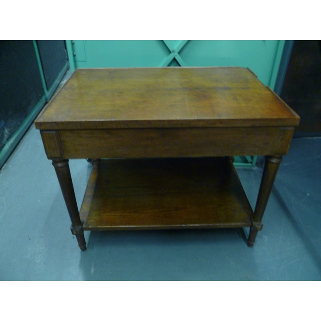 Antique French Mahogany Side Tables - Pair - Image 9 of 11