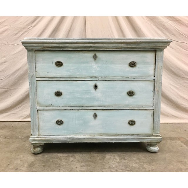 18th C French Painted Commode Dresser For Sale - Image 13 of 13