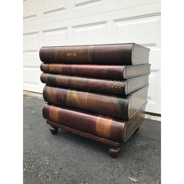 Maitland-Smith Stacked-Book-Shaped Side Table - Image 7 of 7