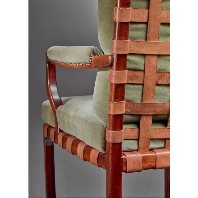 Green Walter Sobotka Armchair, Austria, Circa 1930 For Sale - Image 8 of 11
