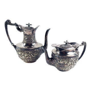 1870 Sheffield Silver Tea & Coffee Pots - a Pair For Sale