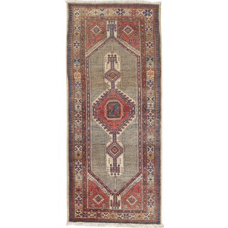"Vintage Persian Serab Hand Woven Runner, 3' X 6'11"" For Sale"