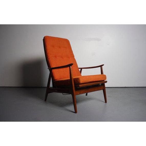 Danish Modern Walnut Lounge Chair & Ottoman For Sale In Orlando - Image 6 of 6