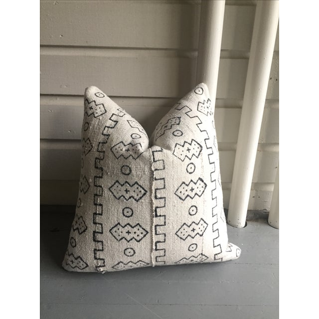 Boho Chic White African Mudcloth Pillow Cover - Image 10 of 10