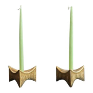 Little Leaf Point Candleholder - a Pair For Sale