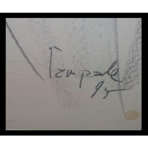 Rare Signed Dario Campanile Original Female Nude Drawing IN EXCELLENT CONDITION!!! This wonderful drawing is a genuine...