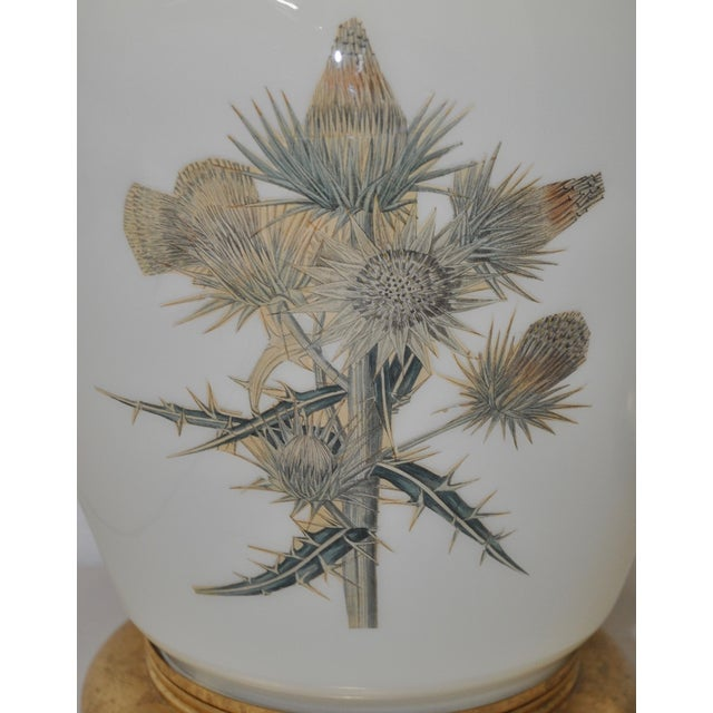 Decalcomania Botanical Print Lamps - Pair - Image 7 of 9