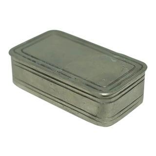 Early 20th Century Handmade Pewter Box, Circa 1940-1950s