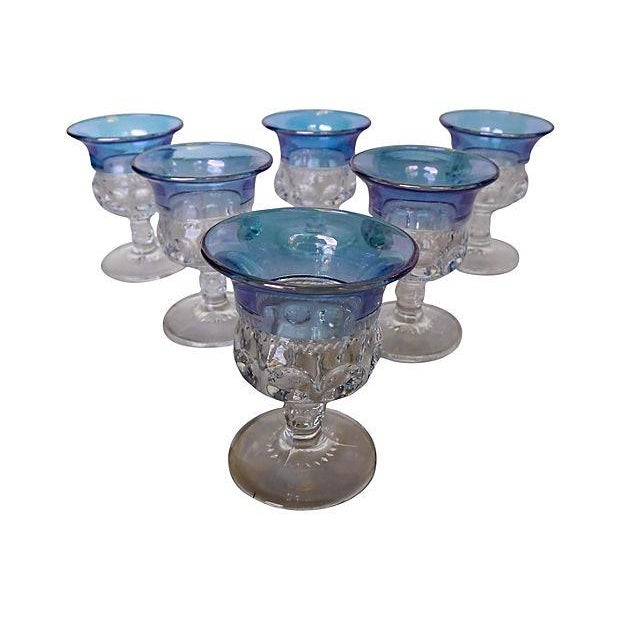 1940s Blue King's Crown Cordials - Set of 6 - Image 5 of 5