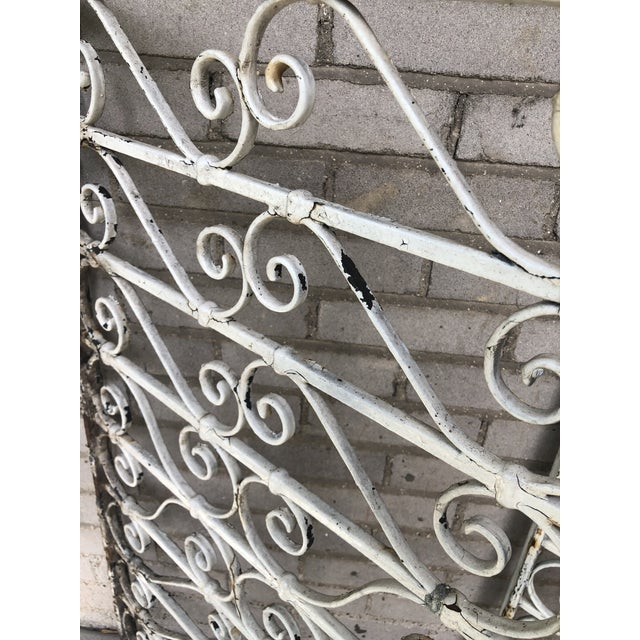 White 19th Century Victorian Wrought Iron Balustrade Sections - a Pair For Sale - Image 8 of 13