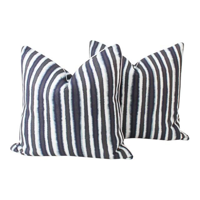 Blue Baxter Ombre Pillows, a Pair For Sale