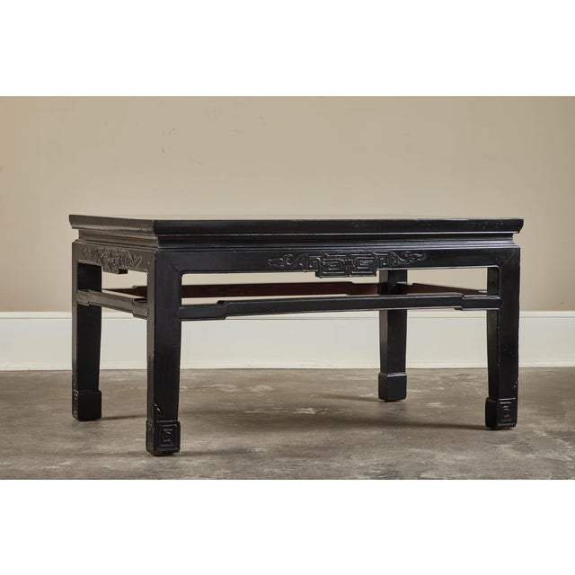 Black 18th C. Low Black Lacquer Kang Table For Sale - Image 8 of 8