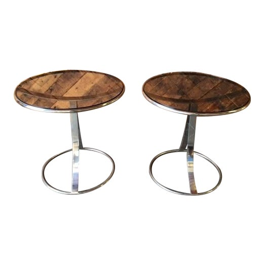 Gardner Leaver for Steelcase Side Tables - Pair - Image 1 of 7