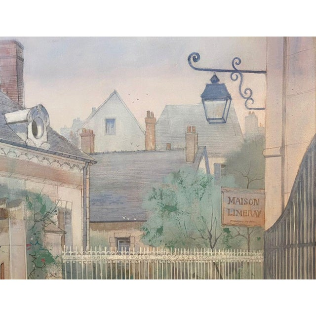 """1970s """"Road to Amboise"""" Wm. Benecke Orignal Oil Painting For Sale - Image 4 of 13"""