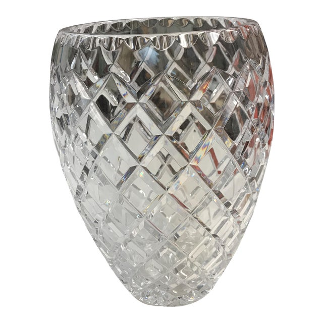 Ceska Clear Crystal Vase Chairish